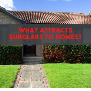 What attracts burglars to homes